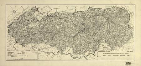 The Great Smoky Mountains National Park Map (1935)