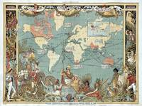 Vintage British Empire World Map (1886)