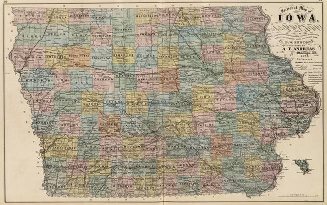 Stunning Old Map Of Iowa Artwork For Sale On Fine Art Prints - Vintage iowa map