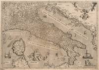 Vintage Map of Italy (1570)