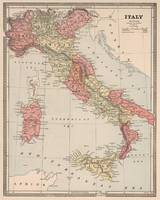Vintage Map of Italy (1883)