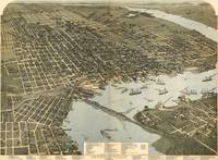Vintage Pictorial Map of Jacksonville FL (1893)