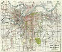 Vintage Map of Kansas City Missouri (1920)