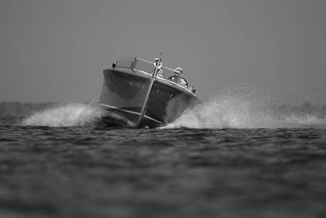 Black & White Series-Wood Boat 7