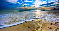 Panoramic Beach Sunset Paradise Ocean Landscape