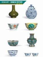Asian Art, Chinese Pottery - Bowls and Vases by Ad