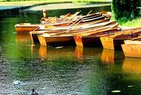 Rowboats in Bremen Germany in Burger Park