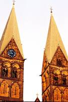 Church Steeples on Bremen, Germany
