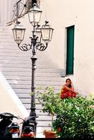 Women in the Courtyard in S. Italy