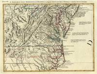 Vintage Map of The Mid Atlantic States (1778)