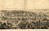 Vintage Pictorial Map of Milwaukee WI (1854)