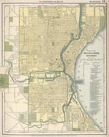 Vintage Map of Milwaukee Wisconsin (1891)