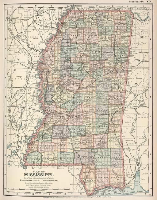 Stunning Old Map Of Mississippi Artwork For Sale On Fine Art Prints - Map of mississippi