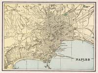 Vintage Map of Naples Italy (1901)