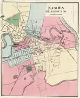Vintage Map of Nashua NH (1877)