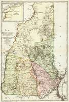 Vintage Map of New Hampshire (1796)