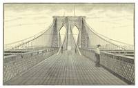Vintage Brooklyn Bridge Illustration (1883) 2
