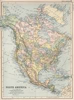 Vintage Map of North America (1892)