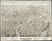 Vintage Pictorial Map of Pawtucket RI (1877)