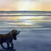"""Basset Hound Sunset"" by k9artgallery"