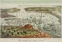 Vintage Pictorial Map of The Port of New York