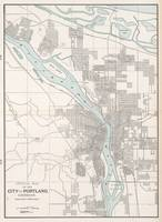Vintage Map of Portland Oregon (1901)