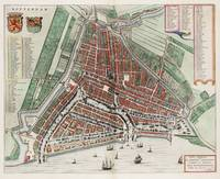 Vintage Map of Rotterdam Netherlands (1649) 2