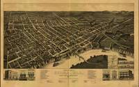 Vintage Pictorial Map of Selma Alabama (1887)