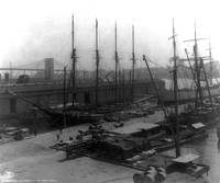 Vintage Ships at Dock NYC Photograph (1908)