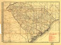Vintage Map of The South Carolina Railroads (1900)