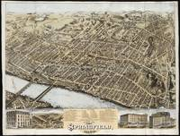 Vintage Pictorial Map of Springfield MA (1875)