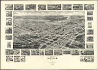 Vintage Pictorial Map of Suffolk VA (1907)