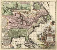 Vintage Map of America (1720)