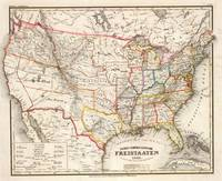 Vintage Foreign United States Map (1845)