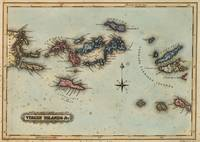 Vintage Map of The Virgin Islands (1823)