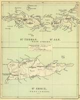 Vintage Map of The Virgin Islands (1853)