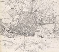 Vintage Map of Warsaw Poland (1836)