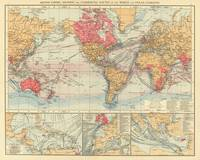 Vintage Map of The World (1895) 2