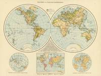 Vintage Map of The World (1895)
