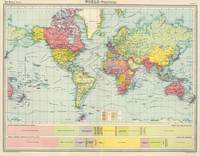 Vintage Political Map of The World (1922)