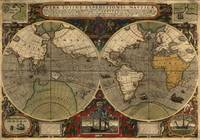 Vintage Map of The World (1595)