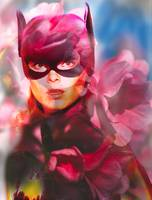 Batgirl And Flowers