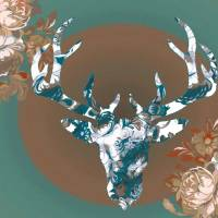 Mint Moose with rosettes by Ricki Mountain