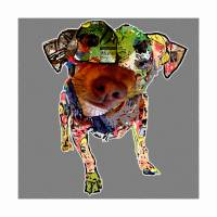 Pup Collage II by Ricki Mountain