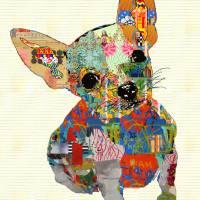 Dog collage art III by Ricki Mountain