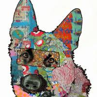 Pup Collage IV by Ricki Mountain