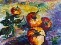 Oil Painting Still Life Tomatoes by Ginette