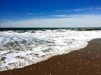 Deep Blue Sky and Surf at Ocean City, Maryland