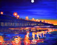 Oceanside California Pier at Night