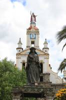 Statue of Ste Anne Next to Church